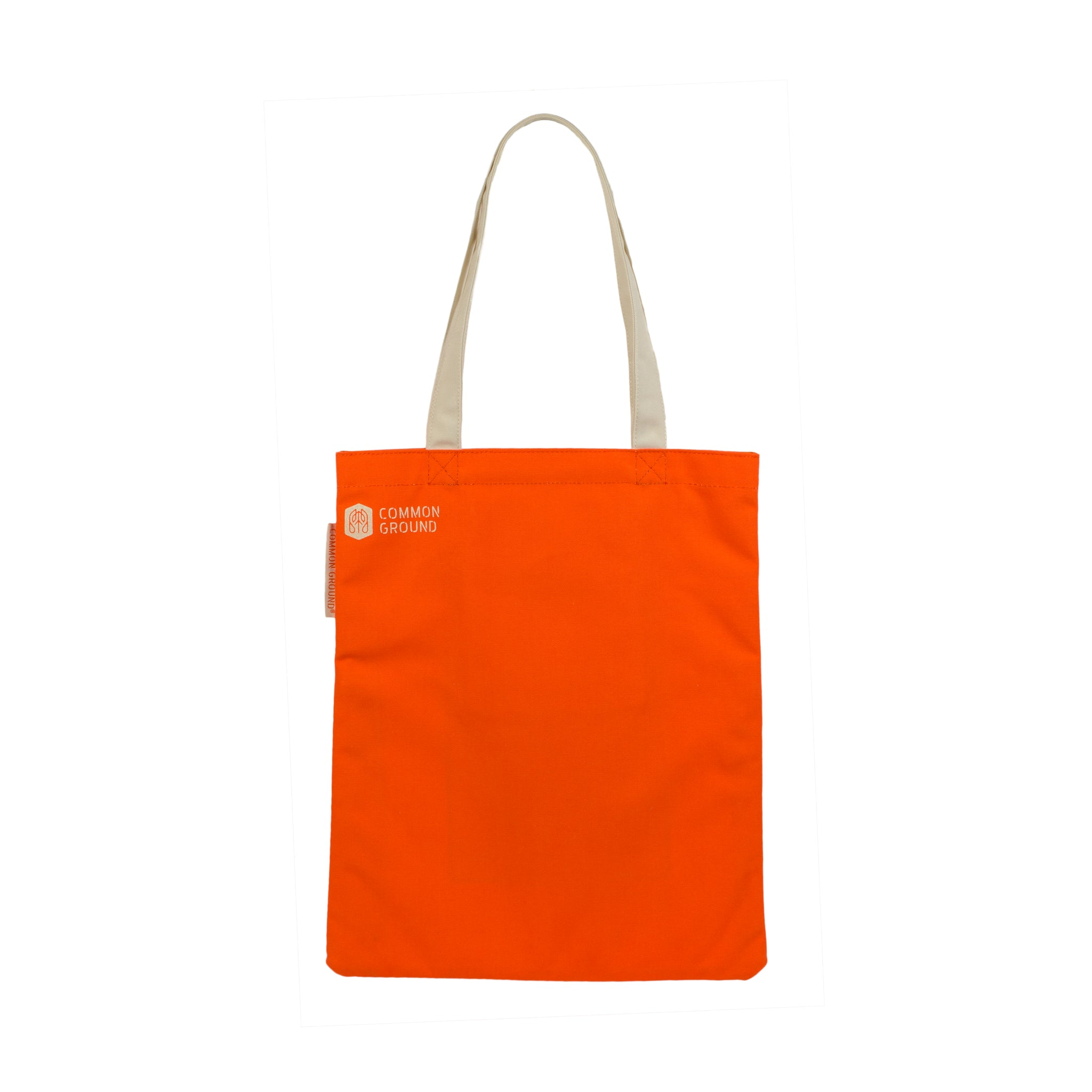 Vibrant_Orange - Common Ground Reading Tote Rear View