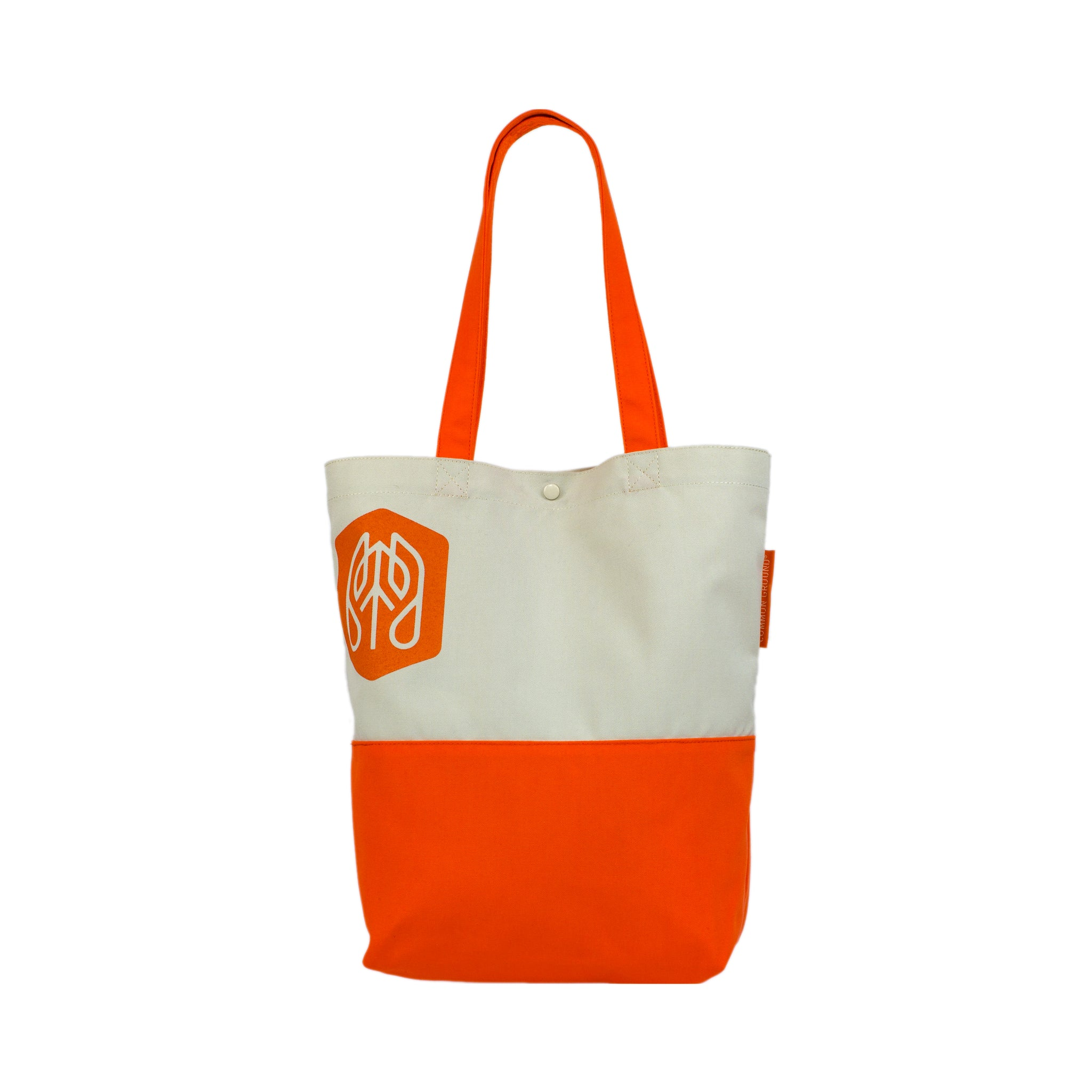 Vibrant_Orange - Common Ground Utility Tote Bag Front View