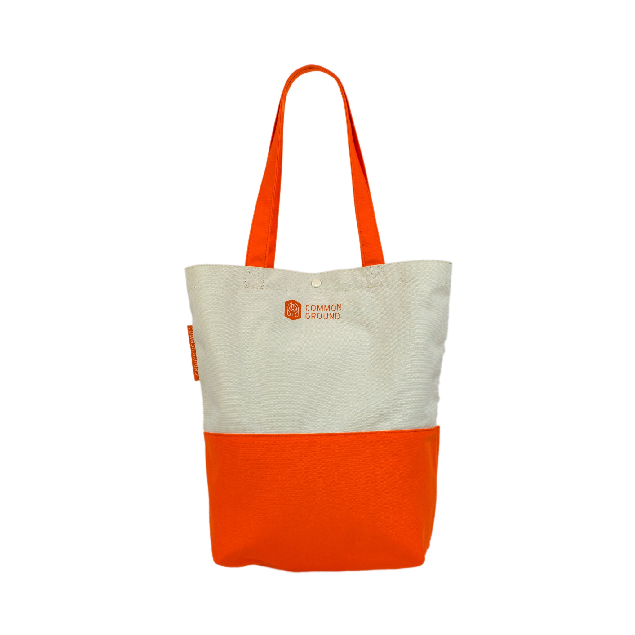 Vibrant_Orange - Common Ground Utility Tote Bag Rear View