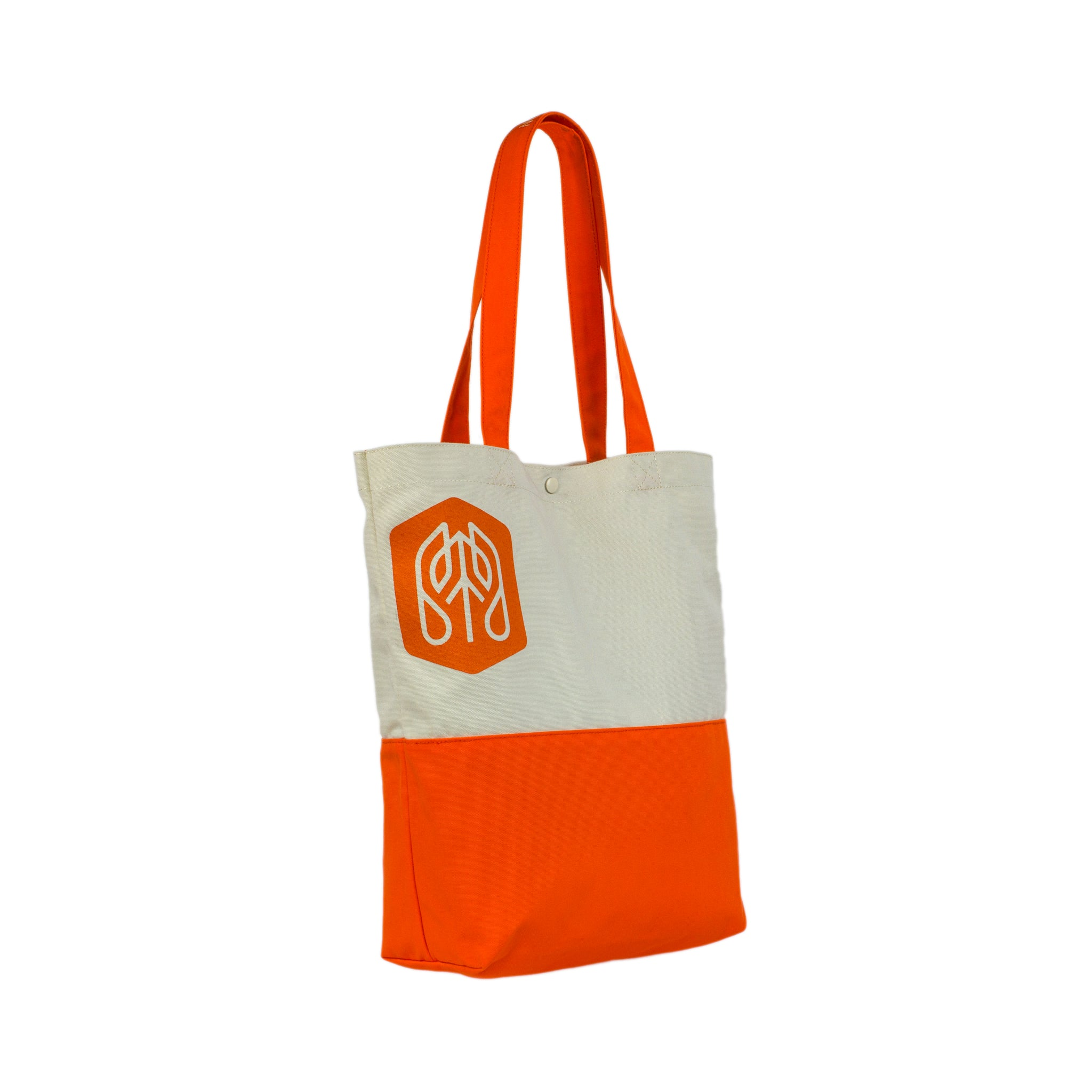 Vibrant_Orange - Common Ground Utility Tote Bag Three Quarter View