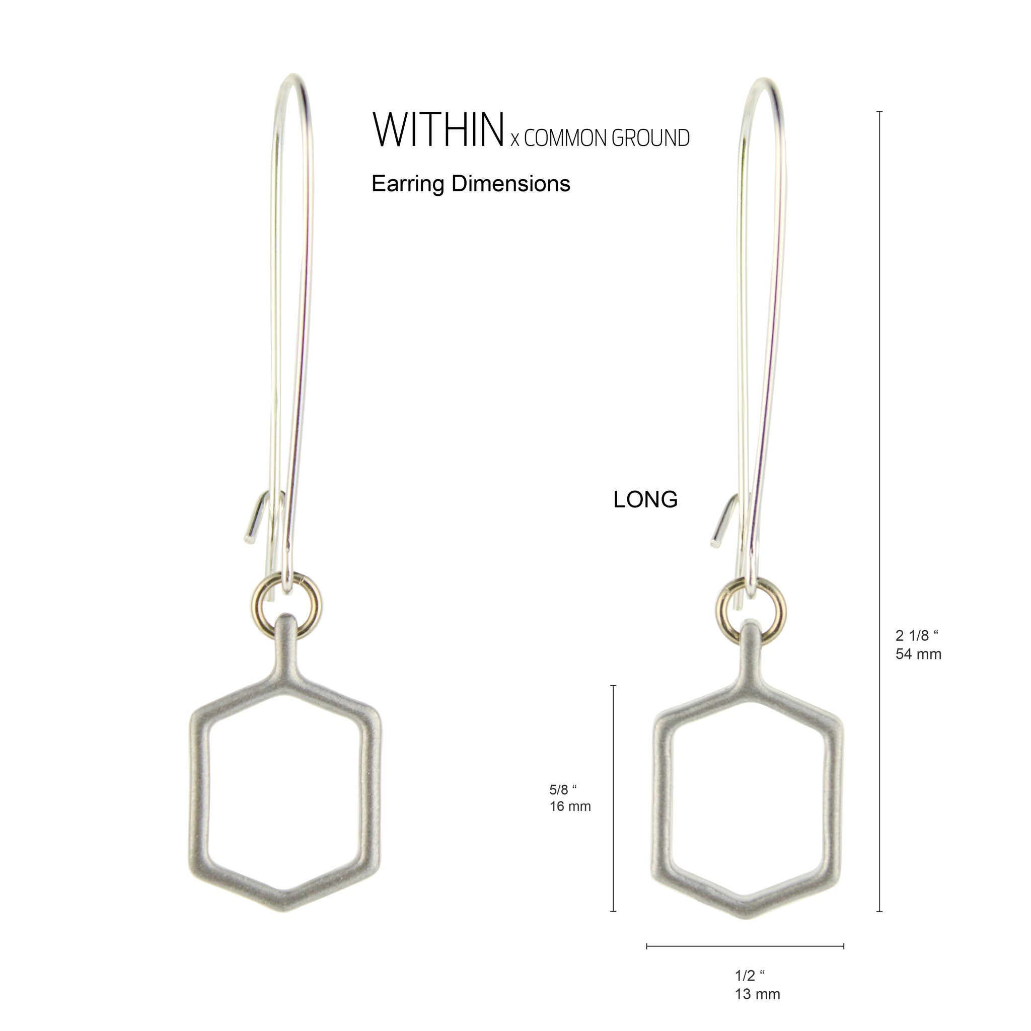 Quarry_Gray - WITHIN x COMMON GROUND Earring Flat View