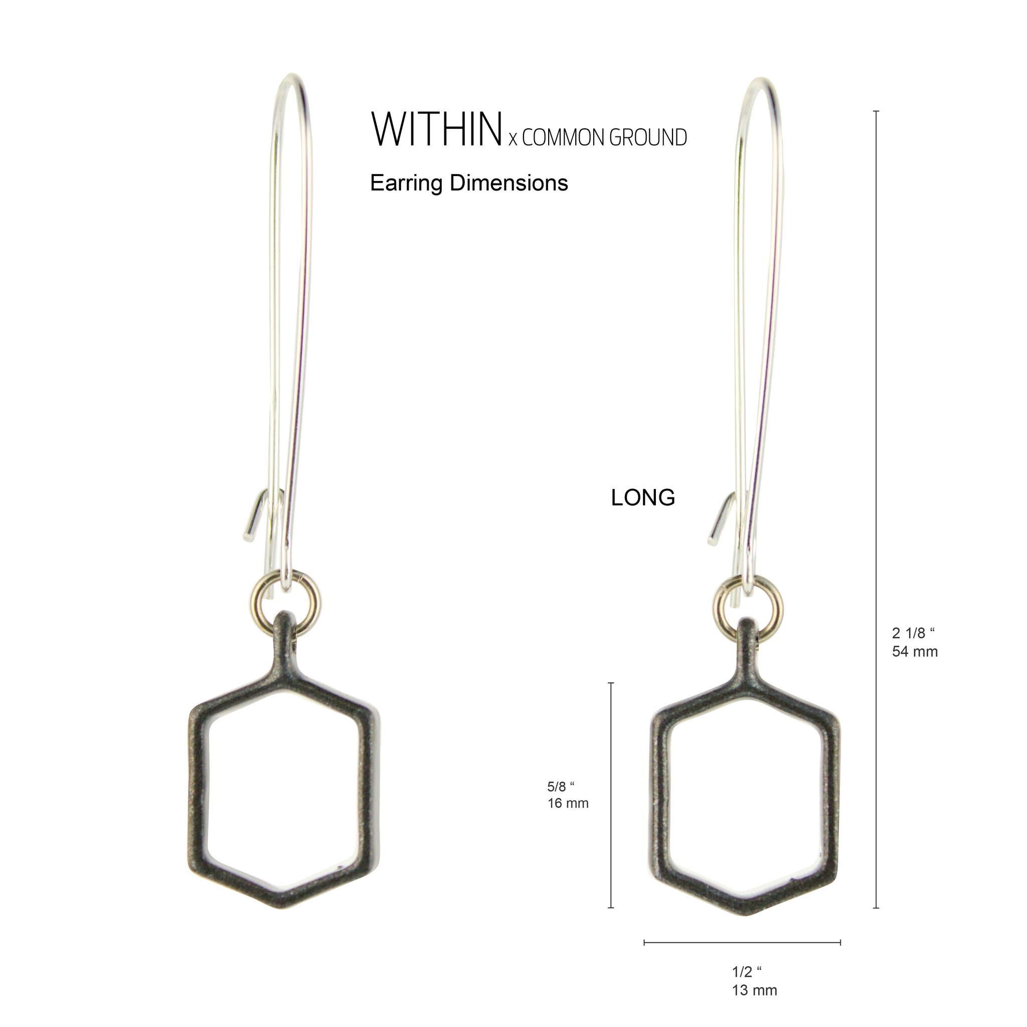 Alloy_Gray - WITHIN x COMMON GROUND Earring Dim View