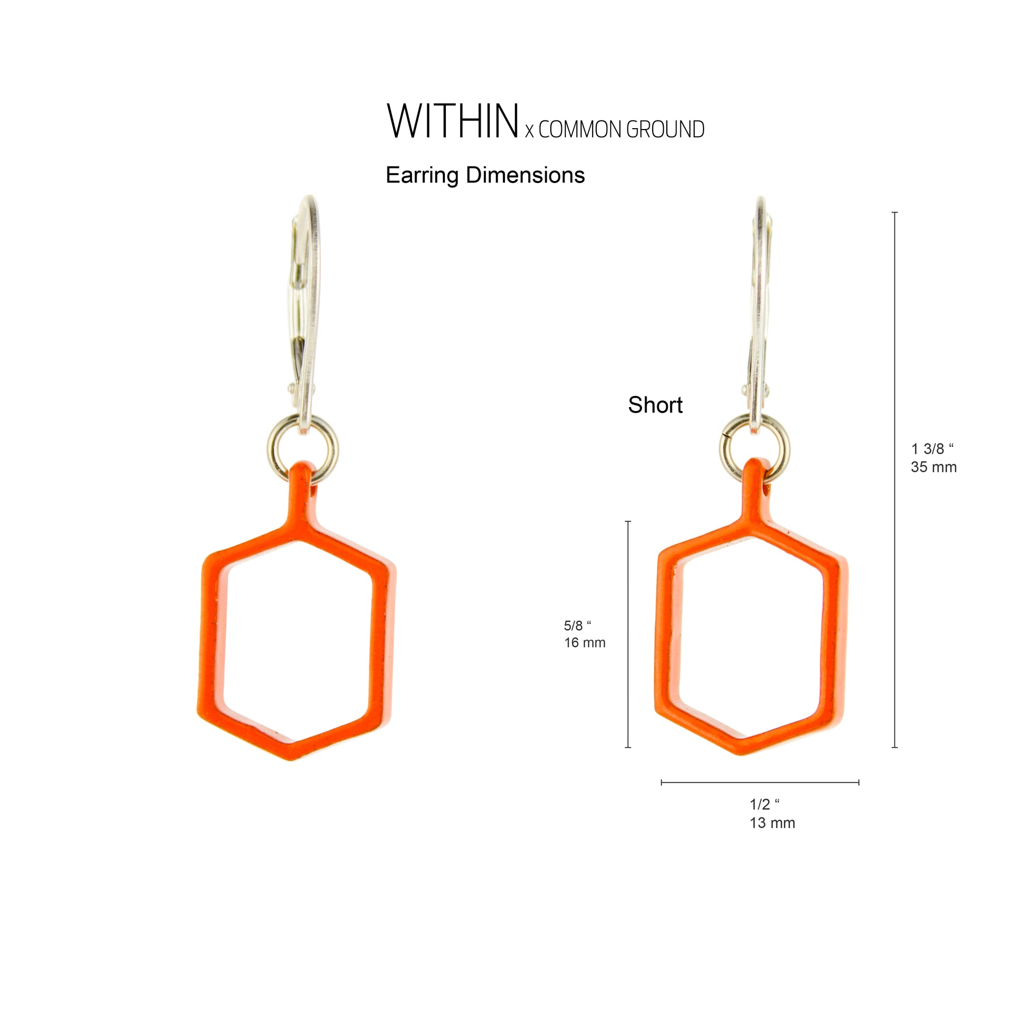 Vibrant_Orange - WITHIN x COMMON GROUND Earring Dim View