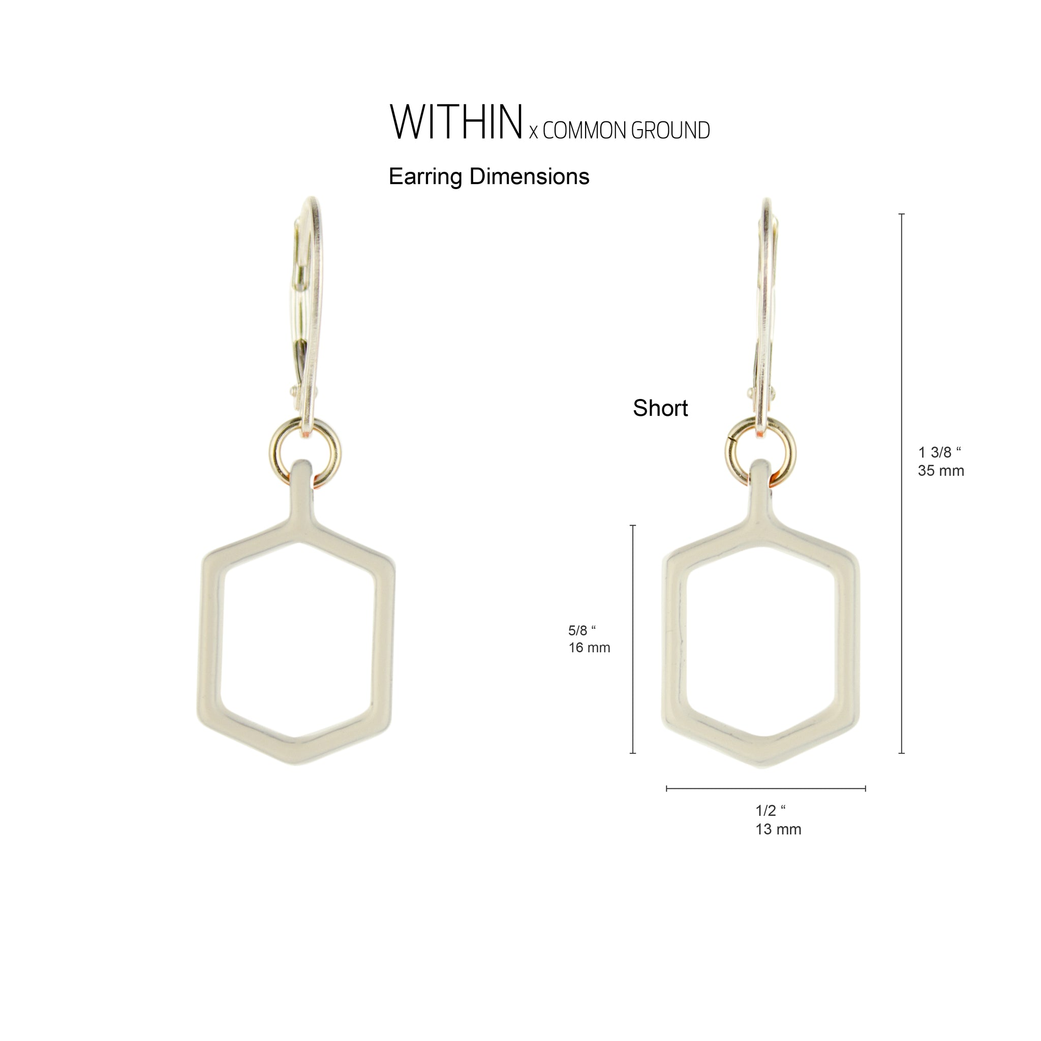 Bright_White - WITHIN x COMMON GROUND Earring Dim View