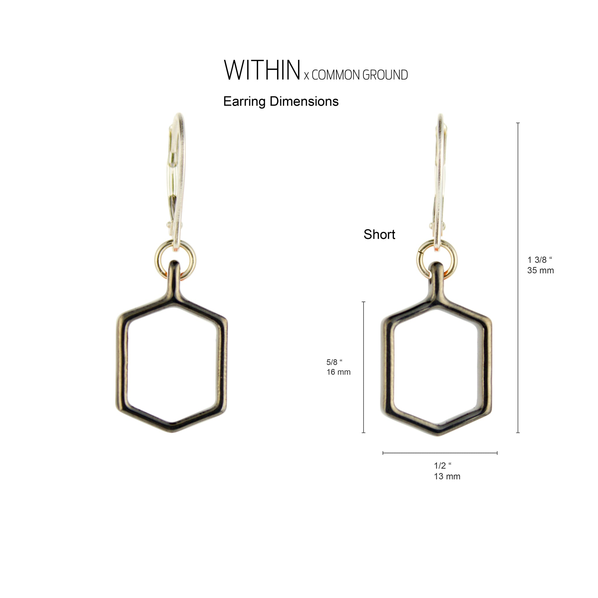 Super_Chrome - WITHIN x COMMON GROUND Earring Dim View