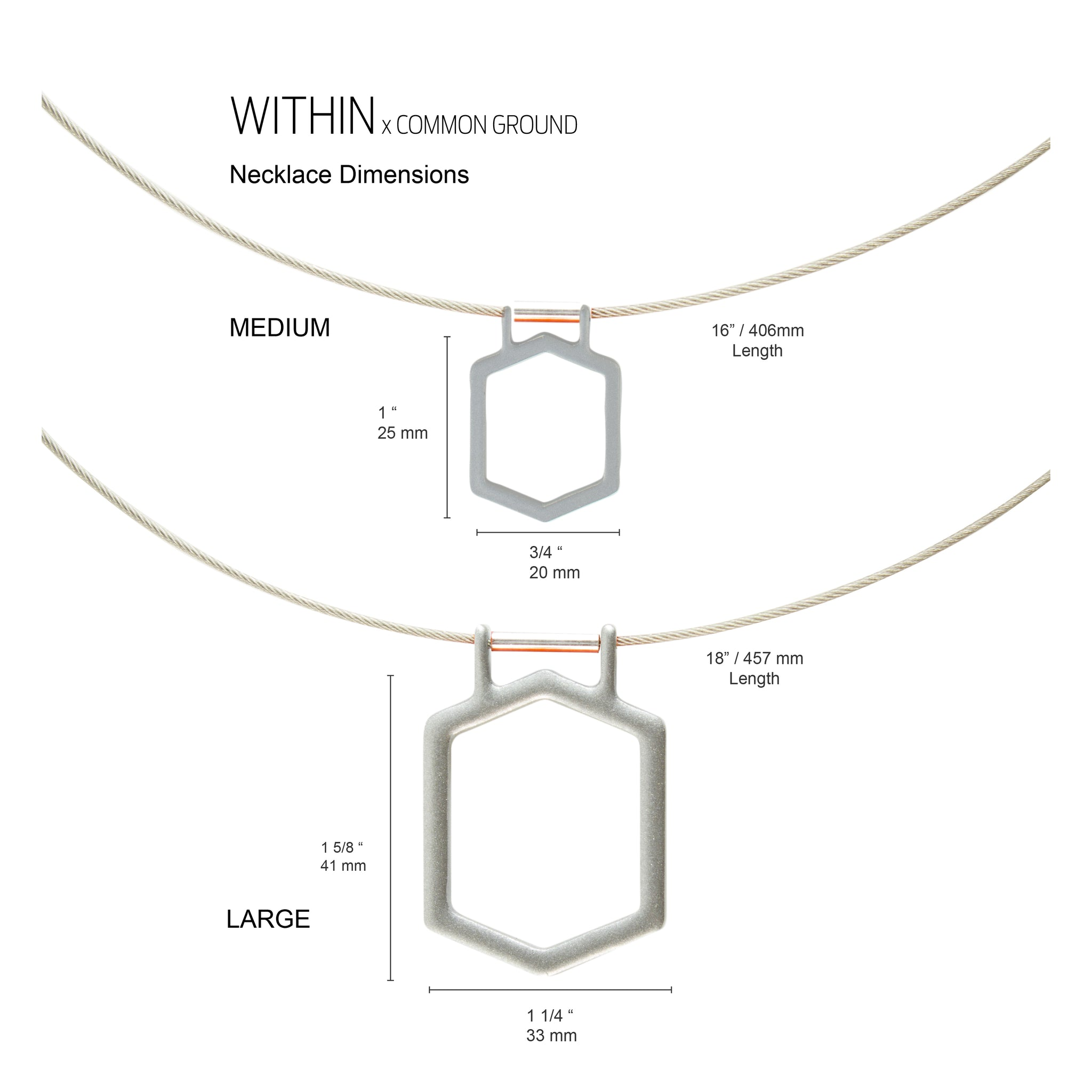 Quarry_Gray - WITHIN x COMMON GROUND Necklace Dim View