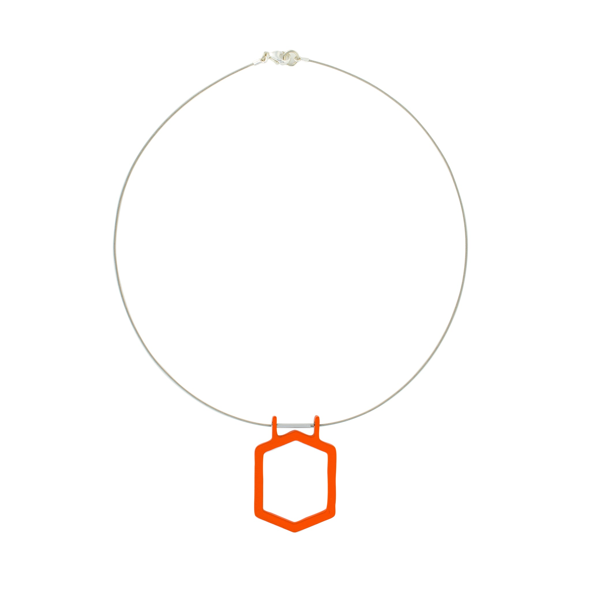 Vibrant_Orange - WITHIN x COMMON GROUND Necklace Flat View