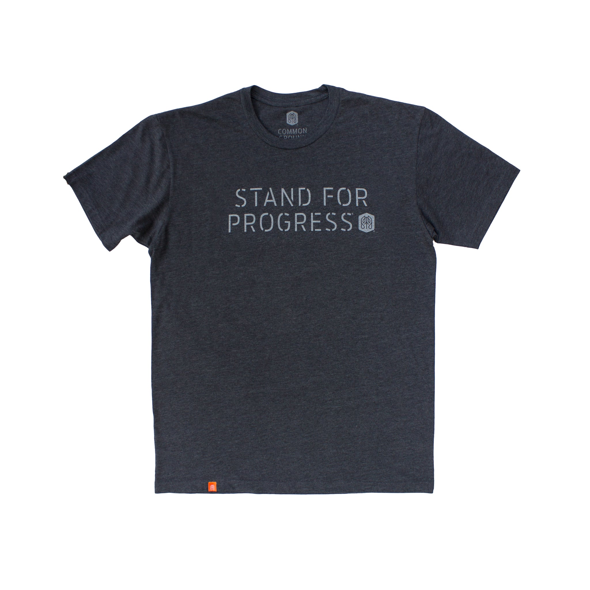 Charcoal - Common Ground T shirt Front View