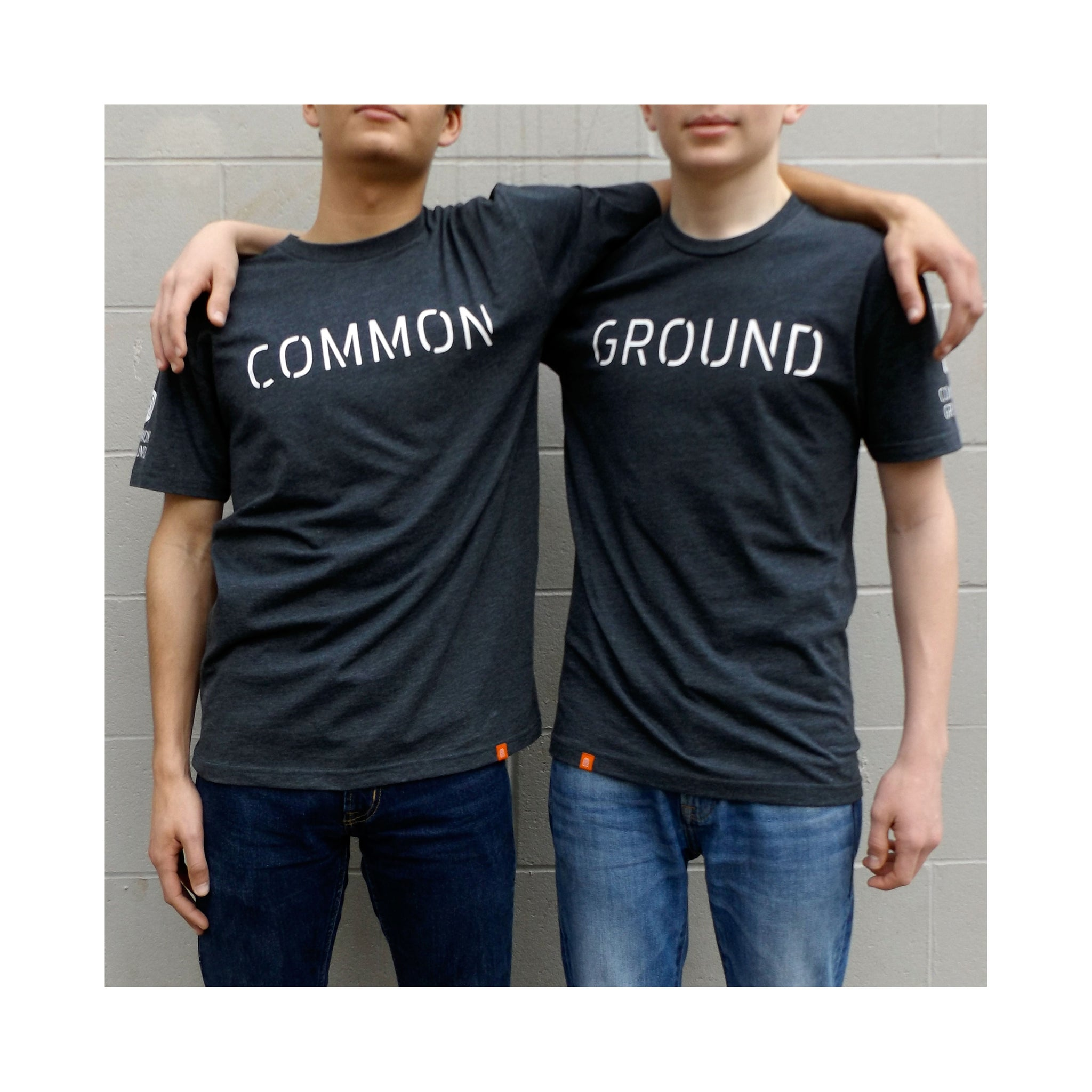 Charcoal - Common Ground It Takes Two T shirt Front on Model