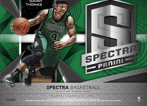 PRE SALE APPROX. 7 28 17 2016/17 Panini Spectra Basketball Hobby 6 Box Case PICK YOUR TEAM BREAK (LAKERS RANDOM BONUS) 42 HITS ID 16SPECTRACB100