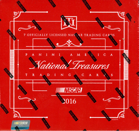 1 BOX BREAK 2016 Panini National Treasures Racing SERIAL NUMBER BREAK (SEE BREAK DETAILS IN DESCRIPTION) 10 TOTAL SPOTS ID NOVNTNASCAR115