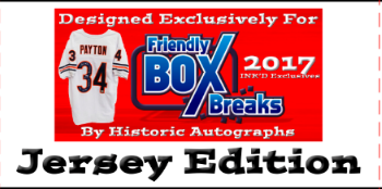 6 JERSEY HALF CASE BREAK FBB Exclusive MULTI SPORT Jerseys by Historic Autographs ($49.99 For 5 checklist players, 18 total spots, 90 total checklist players) ID HAMSHC100