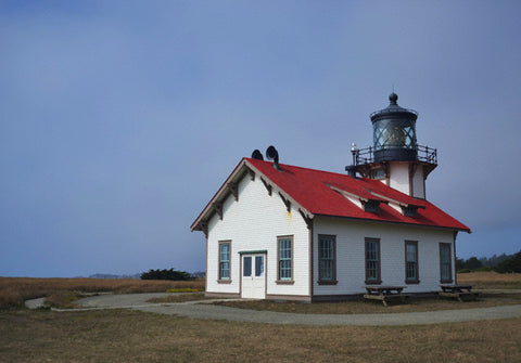 Point Cabrillo Light Station Lighthouse 8X10 Matted Photo Northern California Coast Architecture