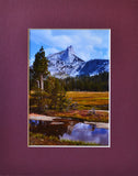 Cathedral Peak 8X10 Matted Photo Yosemite National Park