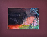 Double Arch Alcove 8X10 Matted Photo Southwest Caves Grottos Zion National Park