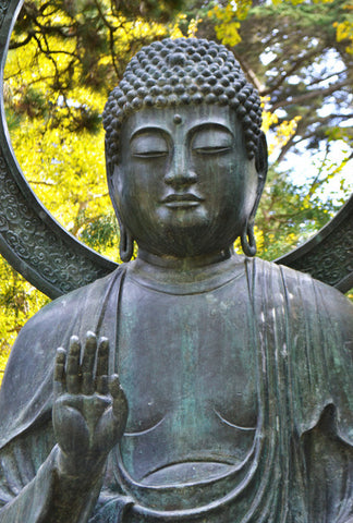 Face of the Buddha 8X10 Matted Photo Buddhism Buddhist Sculpture Japanese Tea Gardens New Age