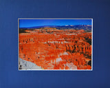 Inspiration Point 8X10 Matted Photo Southwest Bryce Canyon National Park