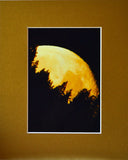 Klamath River Moonrise 8X10 Matted Photo Northern California Moon Shot