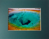 Morning Glory Pool 8X10 Matted Photo Yellowstone National Park Volcanic Hot Springs
