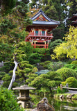 Pagoda Paradise 8X10 Matted Photo Asian Architecture Symmetry Japanese Tea Gardens San Francisco