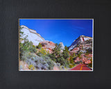 Red Highway 8X10 Matted Photo Southwest Zion National Park