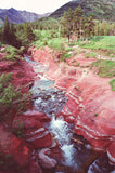 Red Rock Canyon 8X10 Matted Photo Waterton Lakes National Park Canada