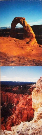 Desert Southwest Scenery Scenic Bookmark #1 Delicate Arch Bryce Canyon Arches National Park Red Rocks Utah