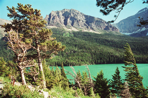 Stoicism 8X10 Matted Photo St. Mary's Lake Glacier National Park