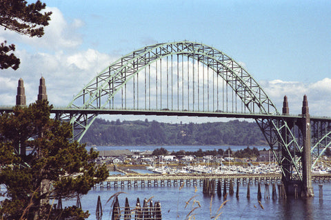 Yaquina Bay Bridge 8X10 Matted Photo Coastal Scenery Architecture Newport Oregon Coast
