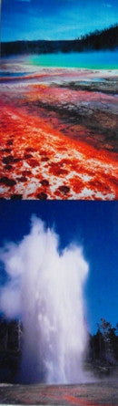 Yellowstone National Park Scenery Scenic Bookmark #1 Grand Prismatic Spring Volcanic Pools Hot Springs Geyser