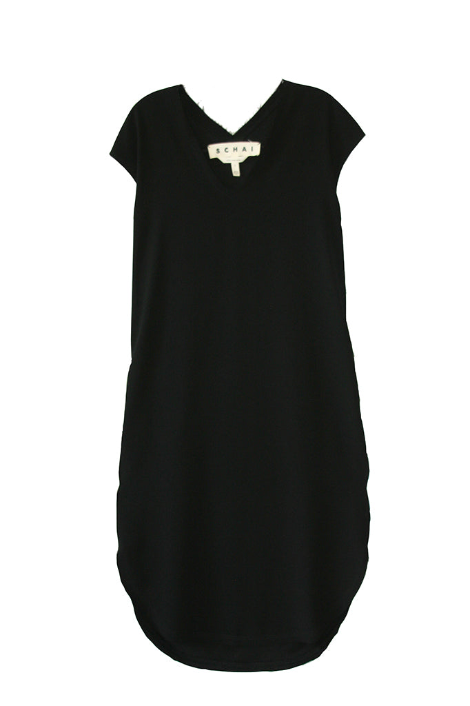 Drappo Lean Dress - Black