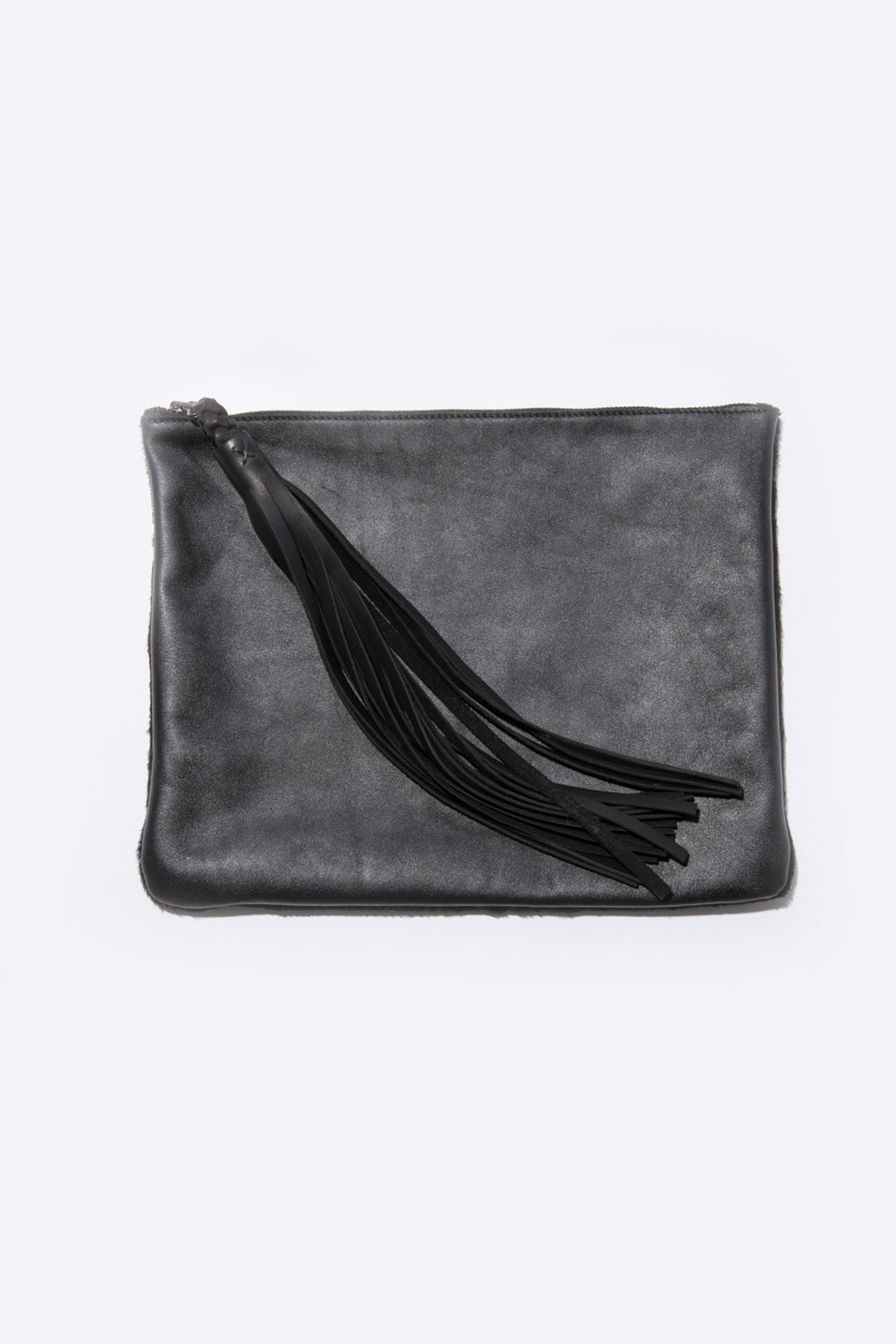Two Sided Tassel Pouch