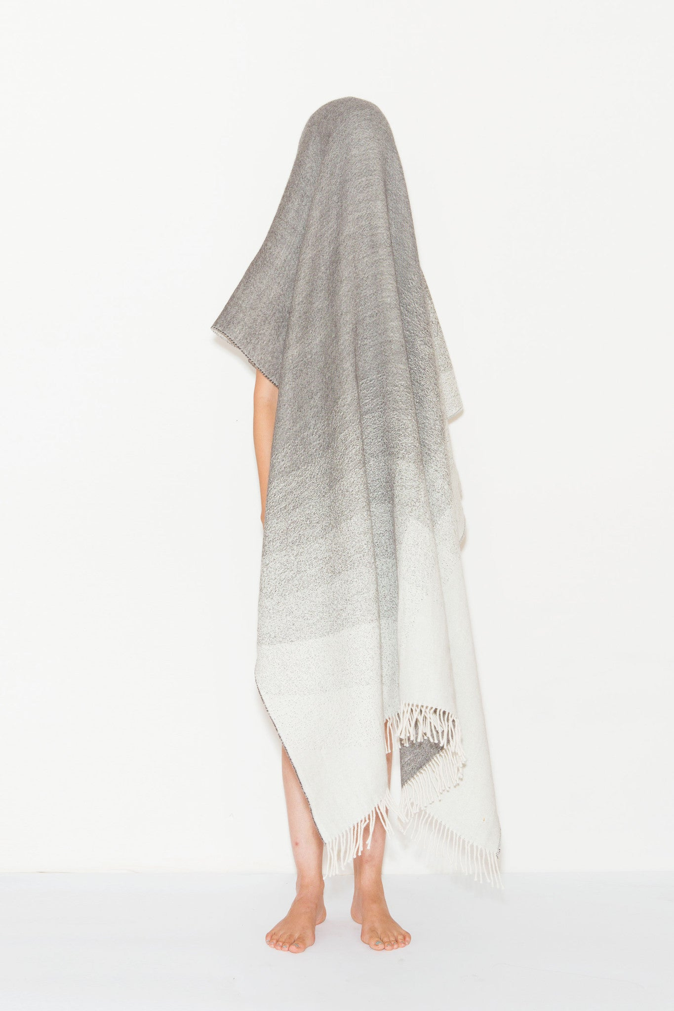 Meda Scarf is an oversized merino wool/cashmere blend made from baby alpaca by A Peace Treaty