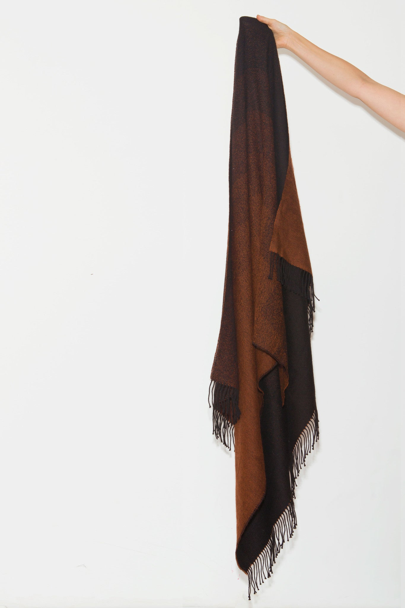 Mera Scarf is an oversized merino wool/cashmere scarf made from baby alpaca by A Peace Treaty