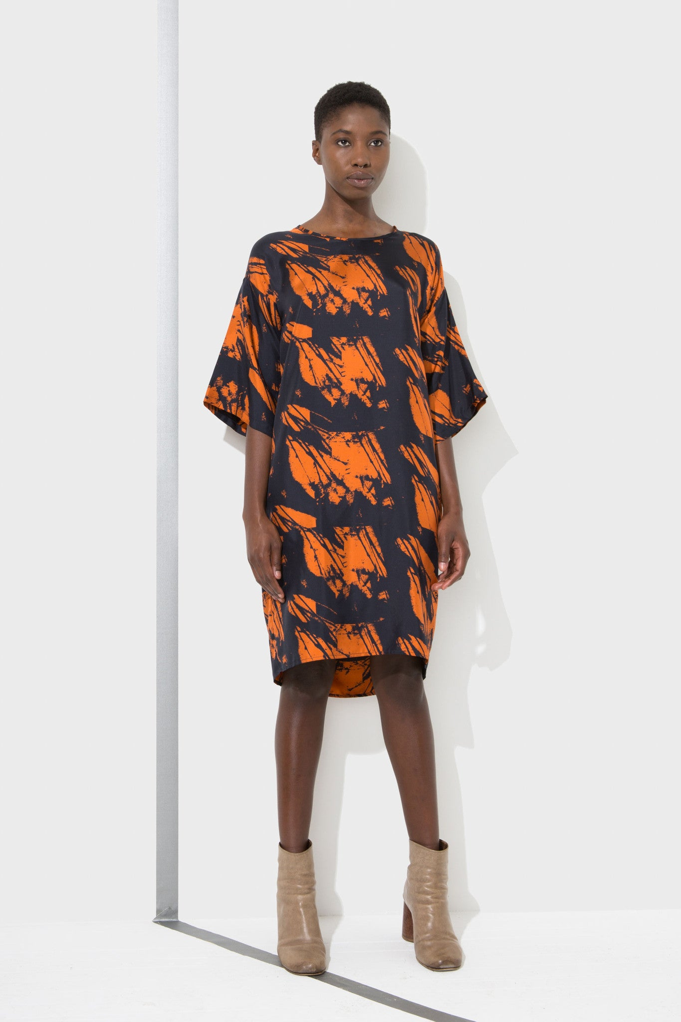 Alex dress with boxy shape designed by H. Fredricksson
