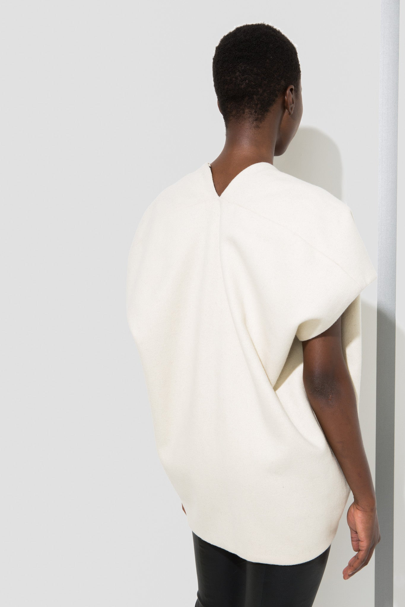 Round Vest is a cocoon shaped vest designed by H. Fredriksson.