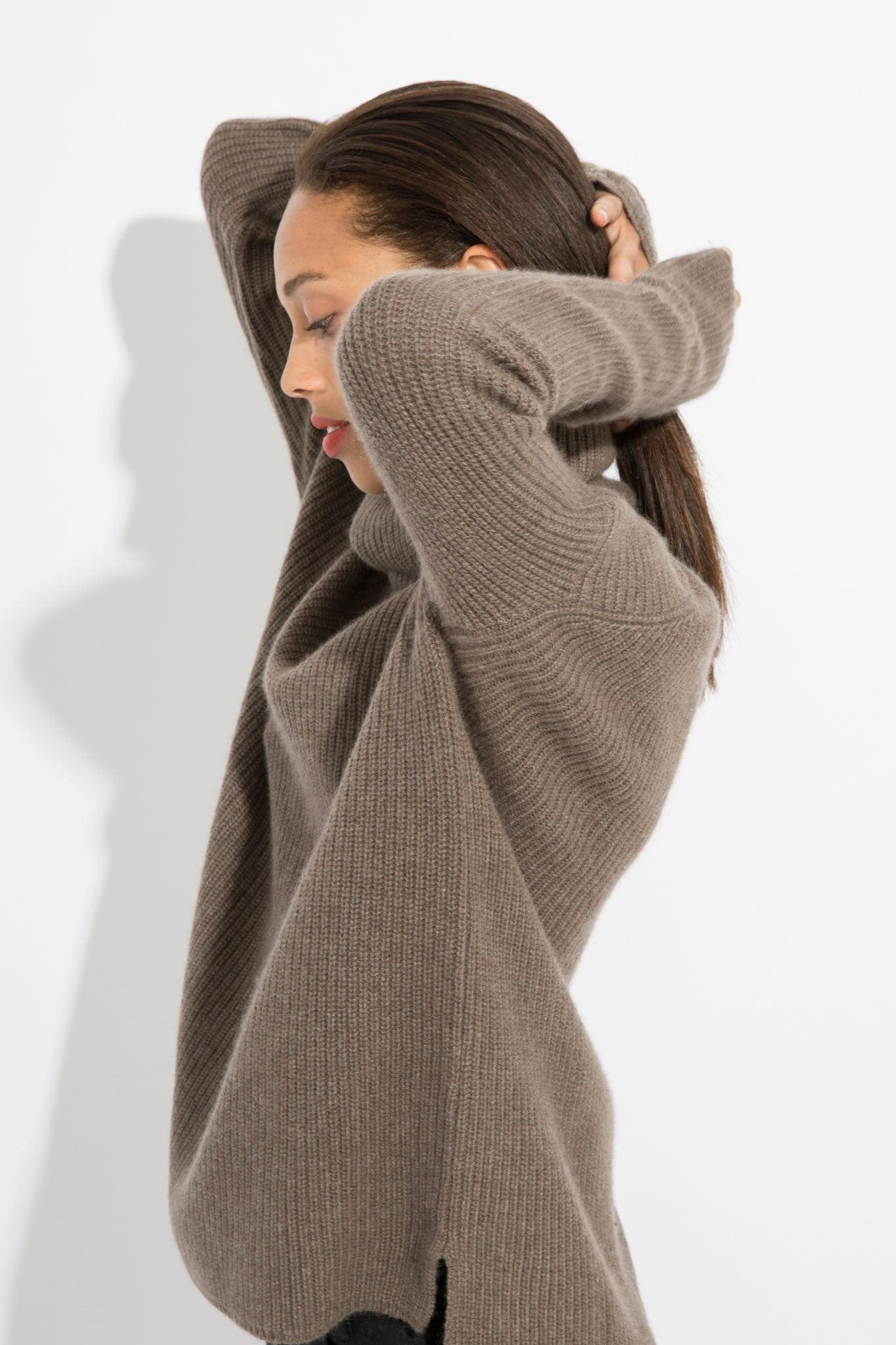 Cozy Cashmere Funnel Neck Sweater