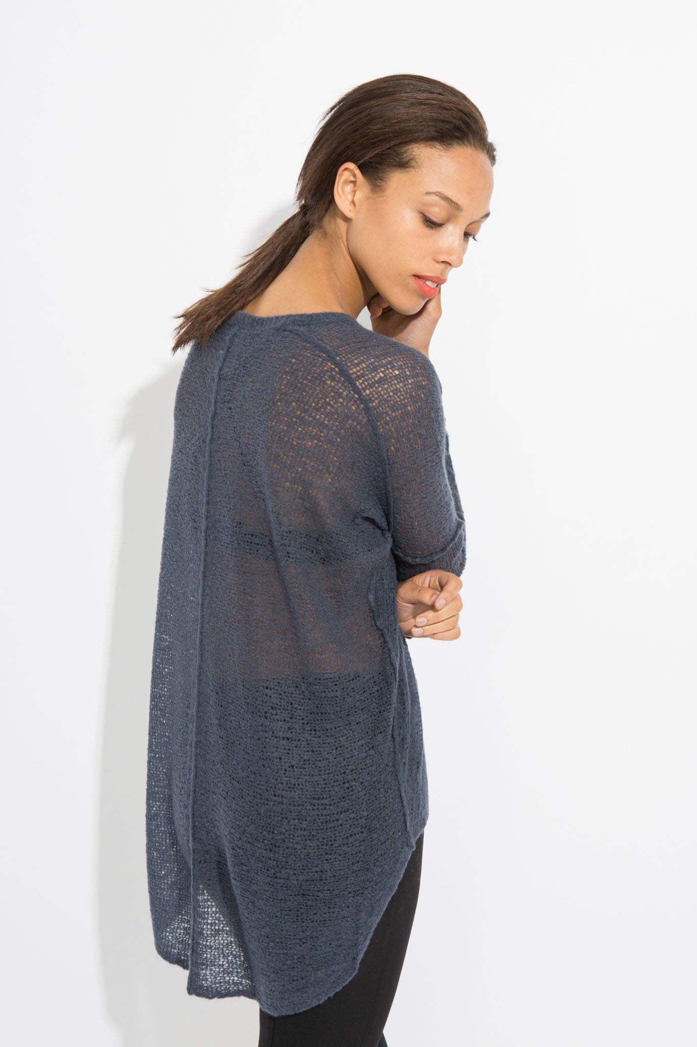 Sheer Pullover - Ink Blue