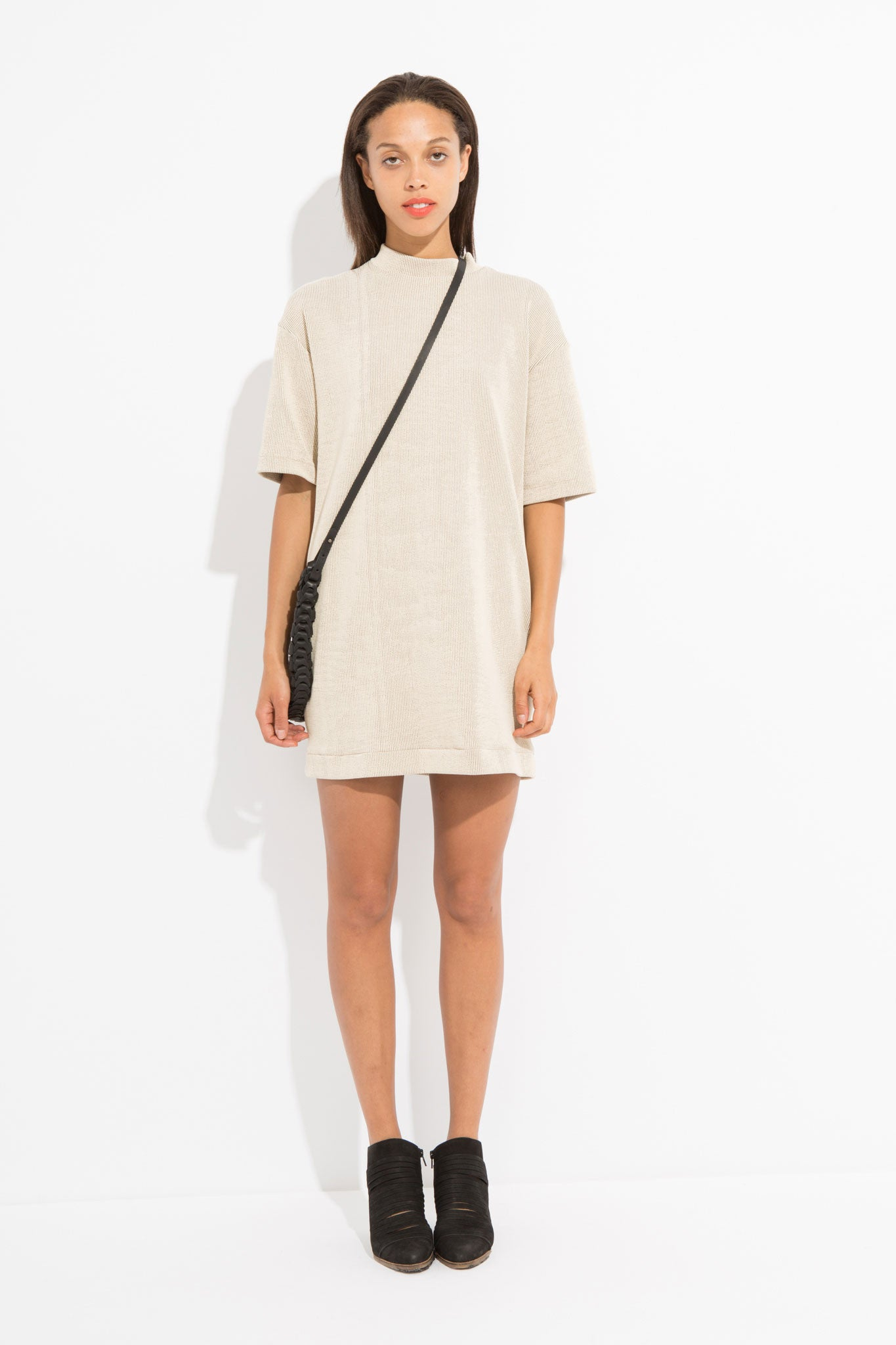 Owen Short T-Shirt Dress - Tan