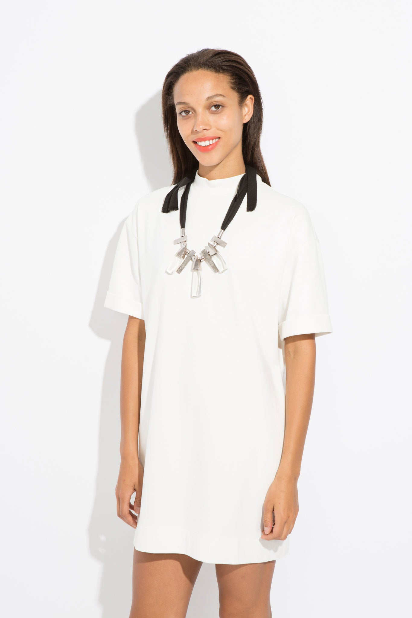 Owen T-Shirt Dress - White