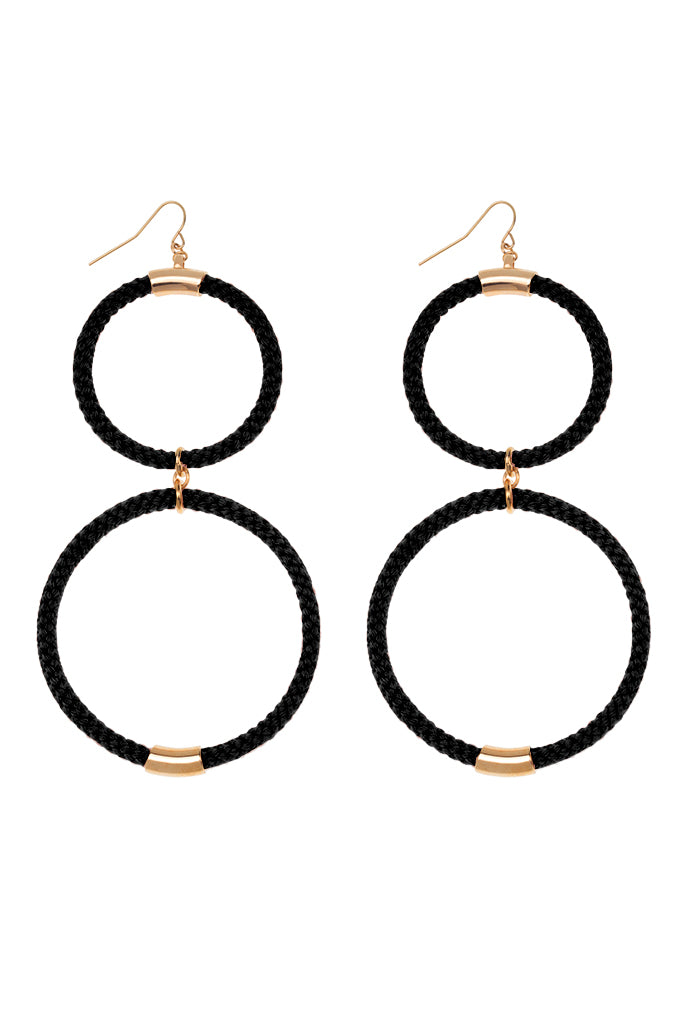 Double Hoop Earrings Various Colors