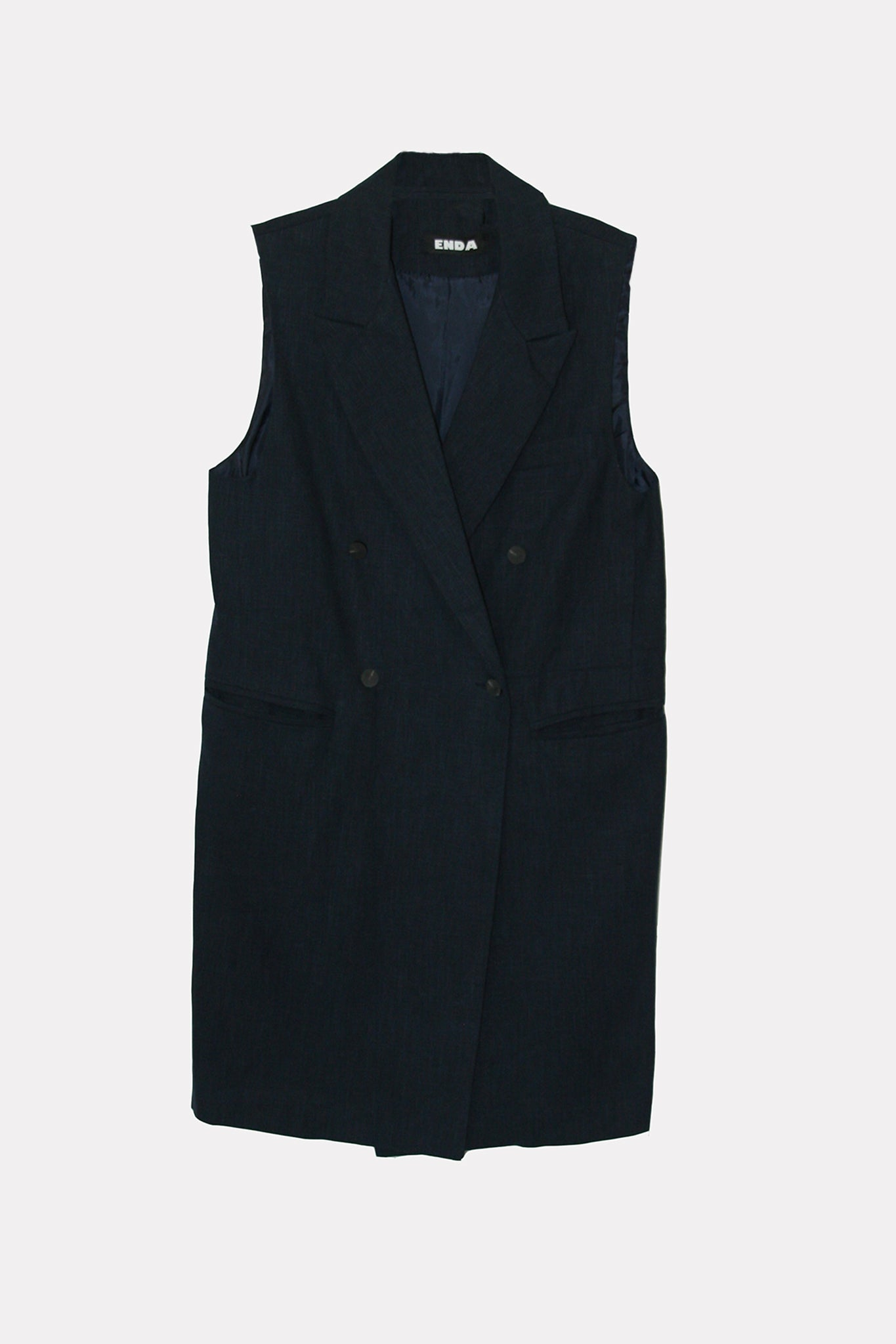 Melissa Sleeveless Dress - Navy