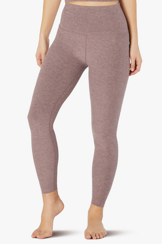 High Waisted Midi Legging - Dusty Mauve/Lilac Luster