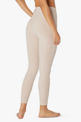 High Waisted Midi Legging - Sand Swept Desert Suede