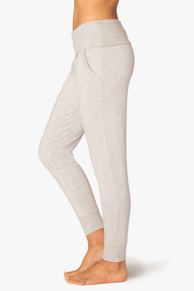 Fleece Foldover Sweatpant - Oatmeal Heather