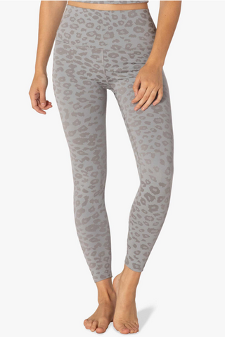 High Waisted Midi Legging - Gray