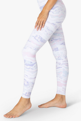Olympus High Waisted Midi Legging - Pastel Waves