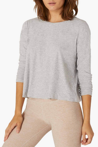 Morning Light Cropped Pullover - Silver Mist