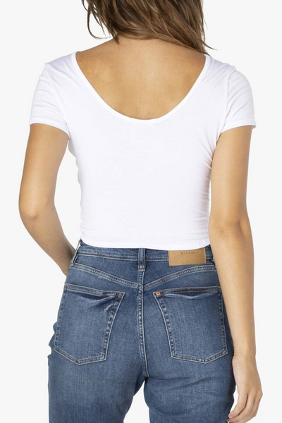 Don't Get It Twisted Reversible Cropped Tee- White
