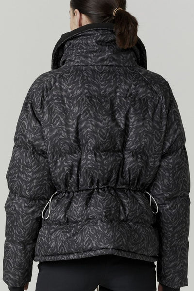Granville Thermal Jacket- Dark Mono Zebra